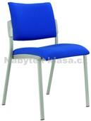 Square – konferenční židle, šedý plast, potah fill, suedine