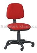 5 - Kancelářská židle, potah Cagliari, Tara, kolečka pogumovaná, kříž plast