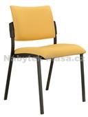 Square – konferenční židle, černý plast, potah fill, suedine