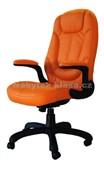 626E eko-kůže oranžová - Kancelářské křeslo