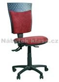 44 - Kancelářská židle, potah Cagliari, Tara, kolečka standard, kříž plast