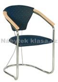 KLARA - Konferenční židle, potah Cagliari, Tara