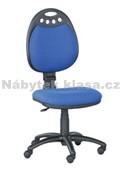 45 - Kancelářská židle, potah Cagliari, Tara, kolečka pogumovaná, kříž plast, píst černý