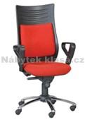 40 - Kancelářská židle, potah Cagliari, Tara, kolečka standard, kříž kov, píst černý