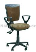 43 - Kancelářská židle, potah Cagliari, Tara, kolečka pogumovaná, kříž plast