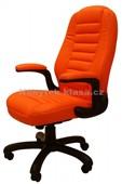613E kůže oranžová - Kancelářské křeslo