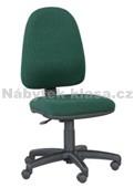 8 - Kancelářská židle, potah cagliari, Tara, kolečka pogumovaná, kříž plast, bederní opěrka ne