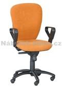 84 - Kancelářská židle, potah Cagliari, Tara, kolečka pogumovaná, kříž plast, píst černý