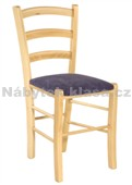 PAESANA - Kuchyňská židle, potah Cagliari, Tara, moření ořech, přírodní, třešeň