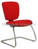 Matrix Prokur - konferenční židle – RAL+chrom, potah fill, suedine