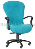 68 - Kancelářská židle, potah Cagliari, Tara, kolečka standard, kříž kov, píst černý