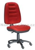 17S - Kancelářská židle, potah Cagliari, Tara, kolečka standard, kříž plast