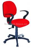 QZY-H6R – kancelářská židle, červená