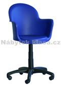 GOGO TWIST - Plastová židle, barva modrá, broskev, pistácie, kolečka standard, kříž plast