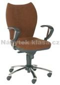 FELIX UNO - Kancelářská židle, potah koženka, kolečka pogumovaná, kříž plast, píst černý