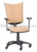 7 - Kancelářská židle, potah Cagliari, Tara, kolečka pogumovaná, kříž plast, píst černý