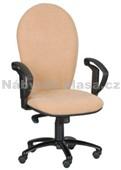 70 - Kancelářská židle, potah Cagliari, Tara, kolečka pogumovaná, kříž plast, píst černý